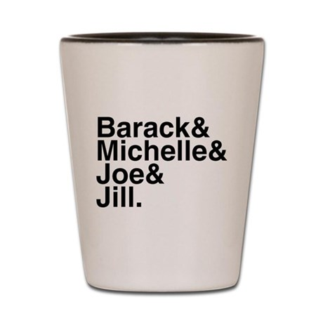 White House Roll Call Shot Glass