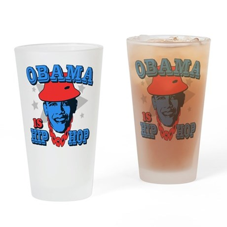 Obama is Hip Hop Pint Glass