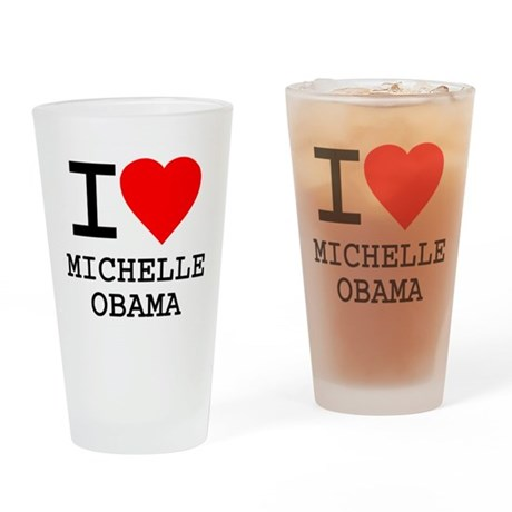 I Love Michelle Obama Pint Glass