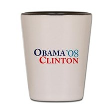 Obama Clinton '08 Shot Glass