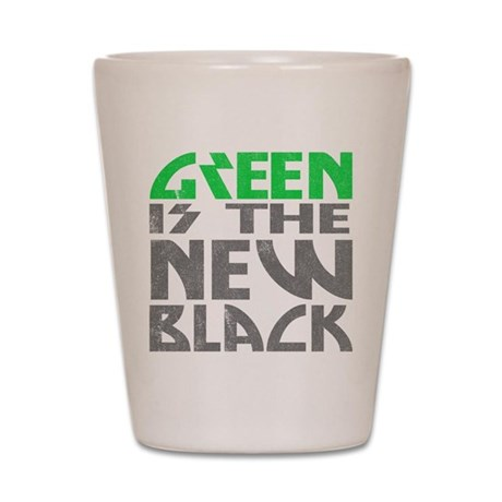 Green is the New Black Shot Glass