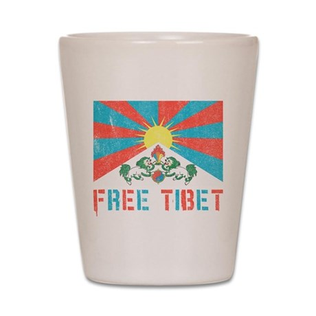 Free Tibet Shot Glass