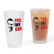 Obama Yes, We Can Pint Glass
