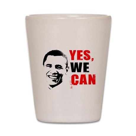 Obama Yes, We Can Shot Glass