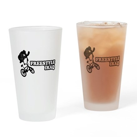 Freestyle Iraq Pint Glass