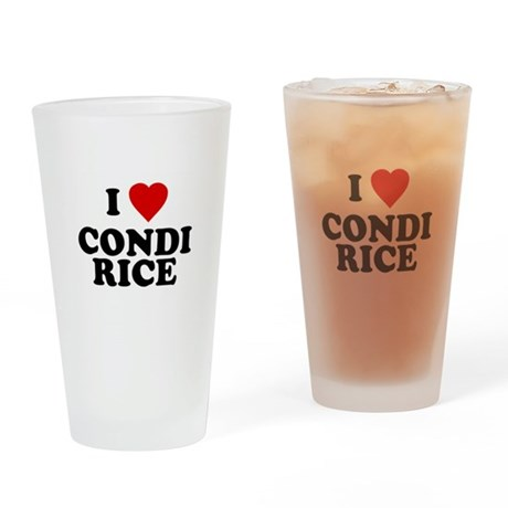I love [heart] Condi Rice Pint Glass
