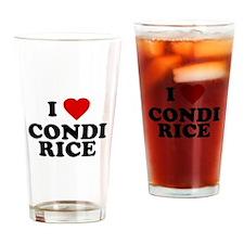 I love [heart] Condi Rice Pint Glass