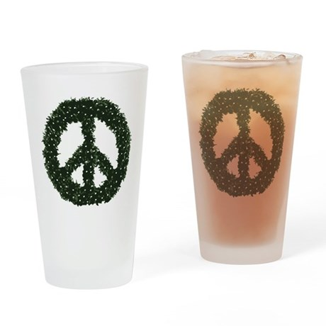 Peace Wreath Pint Glass