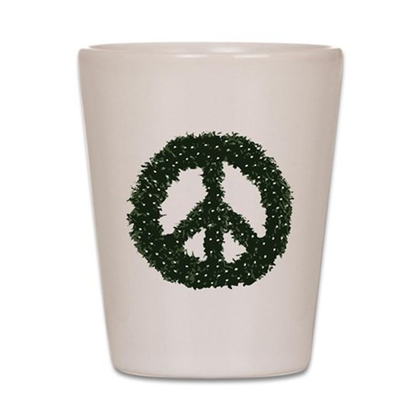 Peace Wreath Shot Glass