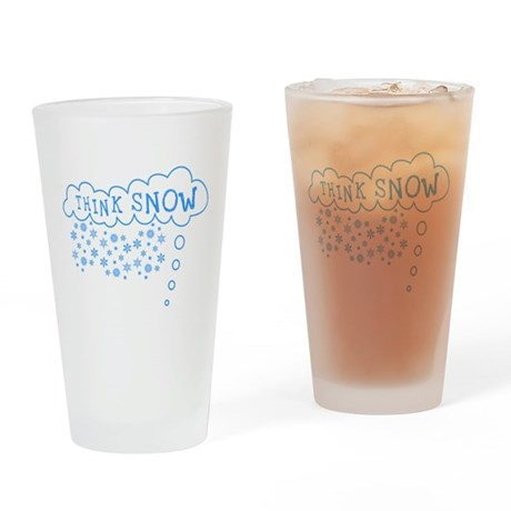 Think Snow Pint Glass
