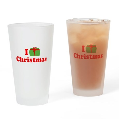 I Love [Present] Christmas Pint Glass