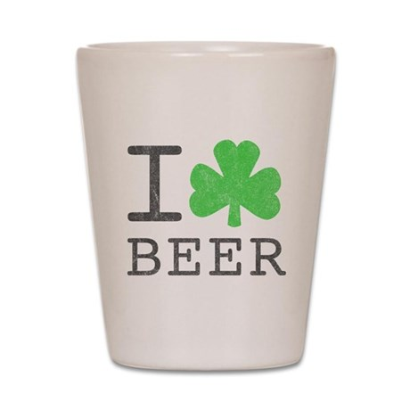 Vintage I Shamrock Beer Shot Glass