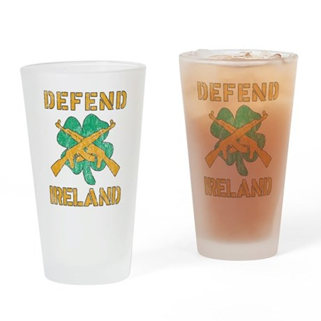 Defend Ireland Pint Glass