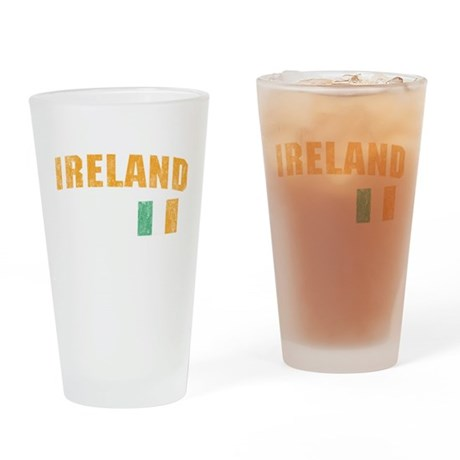 Vintage Ireland Soccer Pint Glass