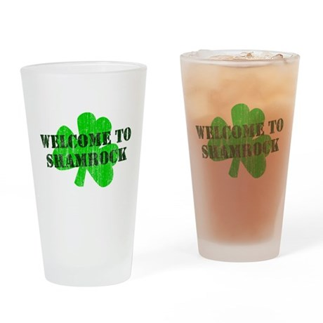 Welcome to Shamrock Pint Glass