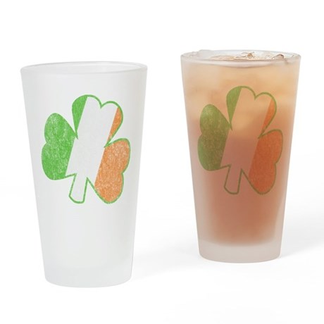 Vintage Irish Shamrock Pint Glass