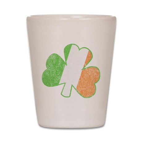 Vintage Irish Shamrock Shot Glass