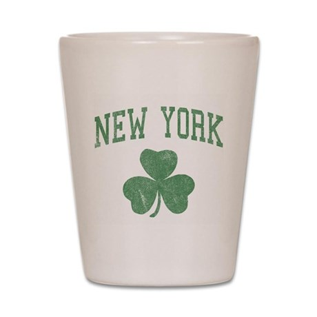 New York Irish Shot Glass