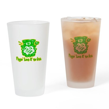 Flippin' Luck O' the Irish Pint Glass