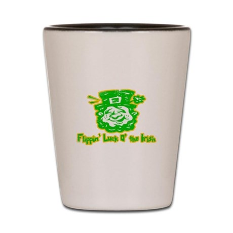 Flippin' Luck O' the Irish Shot Glass
