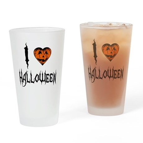 I Love Halloween Pint Glass