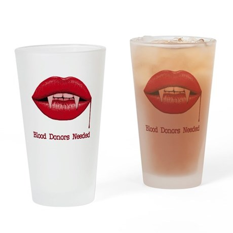 Blood Donors Needed Pint Glass