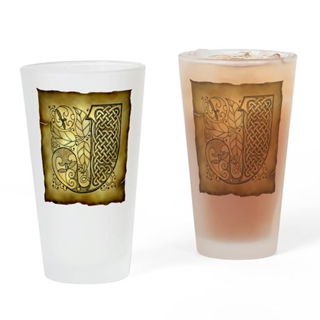 Celtic Letter J Pint Glass