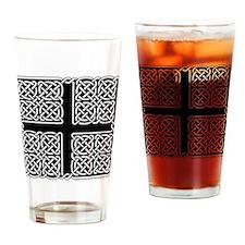 Celtic Square Cross Pint Glass