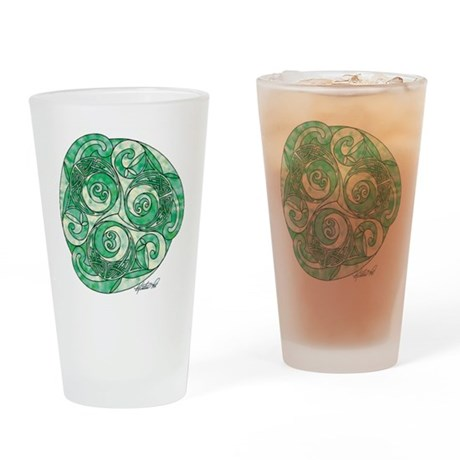 Celtic Green TriSpiral Drinking Glass
