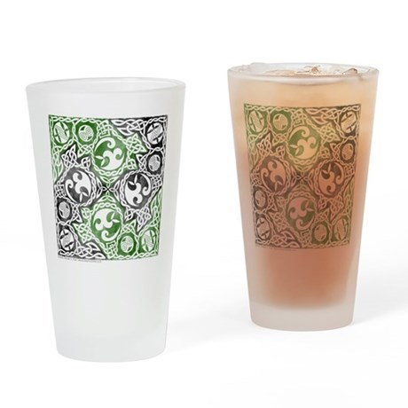 Celtic Puzzle Square Pint Glass