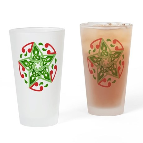 Celtic Christmas Star Pint Glass
