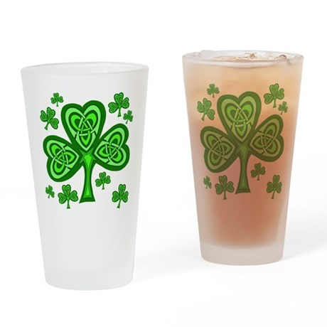 Celtic Shamrocks Pint Glass