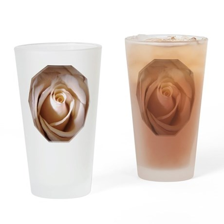 Ivory Rose Pint Glass