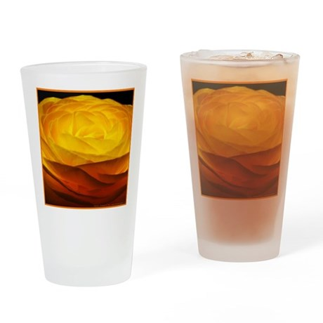 Yellow Ranunculus Pint Glass