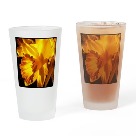 Yellow Daffodil Pint Glass