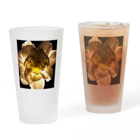 White Carnation Pint Glass