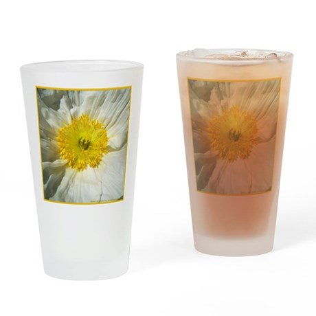 White Icelandic Poppy Drinking Glass