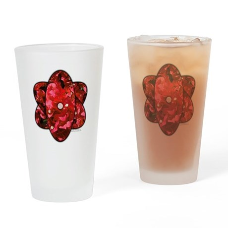 Red Bougainvillea Drinking Glass