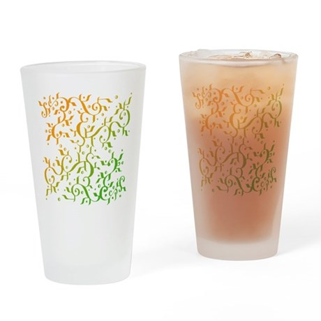 Abstract Arabic Pint Glass