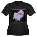 Team Turkey Women's Plus Size V-Neck Dark T-Shirt