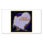 Team Turkey Sticker (Rectangle 50 pk)