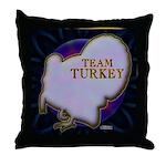 Team Turkey Throw Pillow