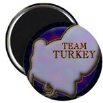 "Team Turkey 2.25"" Magnet (10 pack)"