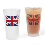 Flag of the United Kingdom Drinking Glass