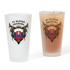 Number One Slovak Grandma Pint Glass