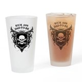 Kick ass to be dad Pint Glasses