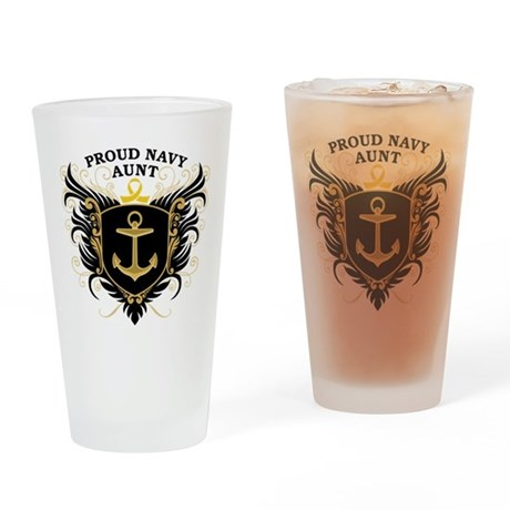 Proud Navy Aunt Pint Glass