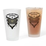 Proud Air Force Veteran Drinking Glass