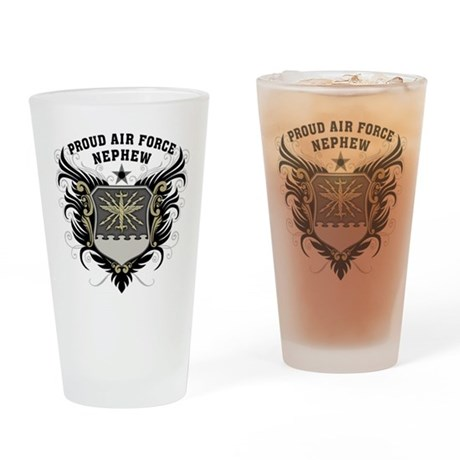 Proud Air Force Nephew Pint Glass