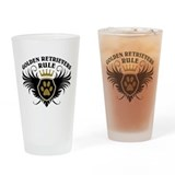 Golden Retrievers Rule Pint Glass